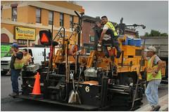 Skokie (BalineseCat) Tags: road workmen crew asphalt skokie resurfacing