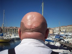 FreD. Vieux Port, Marseille. Bald, thick and fat neck. (Only Tradition) Tags: bear gay haircut france male men neck frankreich pattern fat bald 7 frana mature mpb frankrijk norwood francia franca baldness chauve calvicie calvitie franciaorszg  calvizie frana