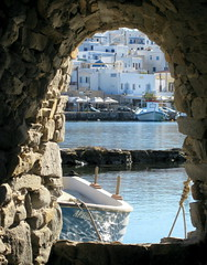 Fort View (supercoops) Tags: water boats harbour fort greece greekislands paros bej the4elements