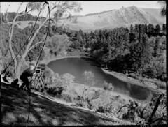 Leg of Mutton Lake, Mount Gambier (State Records SA) Tags: blackandwhite photography australia historical southaustralia frankhurley srsa staterecords staterecordsofsouthaustralia staterecordsofsa