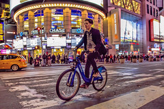 Late for a Hot Date (gimmeocean) Tags: nyc newyorkcity ny newyork night canon nightshot manhattan 42ndst timessquare 7d 7thave theaterdistrict 1635mm citibike canonef1635mmf28liiusm canoneos7d