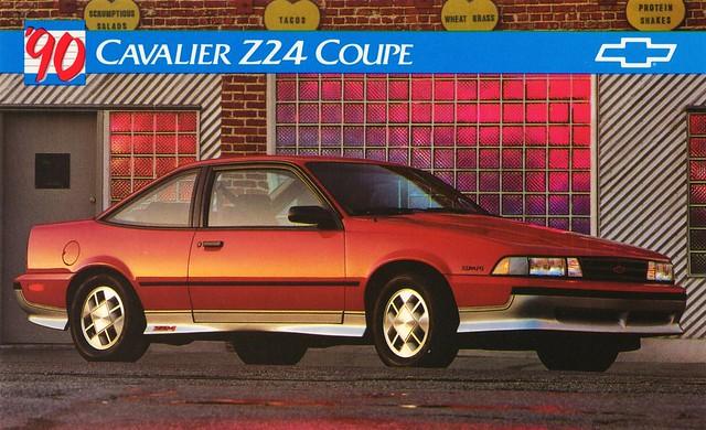chevrolet postcard cavalier coupe 1990 z24