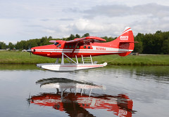 N2899J (John W Olafson) Tags: reflection mirror otter floatplane dehavilland lakehood dhc3 rusts n2899j