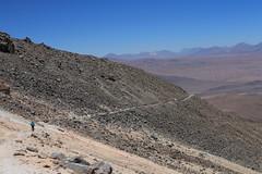 Descending the track on Uturuncu