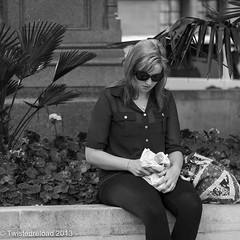 It Doesn't Look That Good (Twistedreload) Tags: life park city ladies portrait people streets london monochrome photography mono photo blackwhite nikon image streetphotography bnw streetportraits ligthroom streettogs
