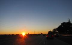 dry December (Riex) Tags: california morning sky sunrise dawn day jour 101 ciel commute sfba hwy101 highway101 matin californie aube leverdusoleil s95 canonpowershots95