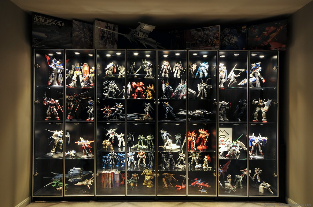 Gunpla Display Cabinet 2 Cabinet Harder Otaku Revolution