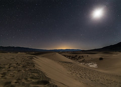 Desert Nights (tristanotierney) Tags: california park moon cali night stars nationalpark sand desert dune parks clear nighttime mesquite moonlight deathvalley sanddune deserts sanddunes mesquitesanddunes