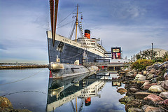 The RMS Queen Mary (On Location in Los Angeles) Tags: ocean cruise hotel harbor queenmary longbeach maritime pearlharbor titanic cunard hdr oceanliner whitestarline