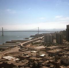 San Francisco 1974 (mybelair62) Tags: sf old bridge bay 1974 san francisco freeway embarcadero