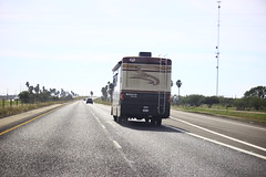 nice driving texas monaco frombehind monarch rv motorhome luxury ontheroad