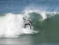 Musselwick Surfing 1 (MrSimonWood) Tags: autumn surf westwales wave surfing pembrokeshire 2013 musselwick