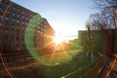 major lens flare (Beau Finley) Tags: railroad light sunset sun sunlight dc washington traintracks trainstation lensflare railroadtracks vre beaufinley virginiarailwayexpress