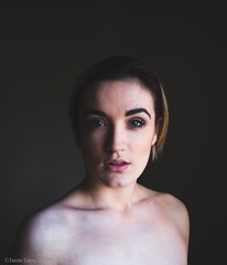 Aoife #2 (Jason Ennis) Tags: portrait woman girl nude model fuji emotion expression faded 6x7 x100 vsco