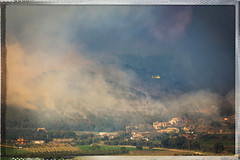 Costa Brava on fire II (Solomulala | mostly weekends ;-( !) Tags: forest fire woods smoke fuego humo incendio costabrava calonge 2014 foc fum quemar vallllobrega solomulala murielcdejong