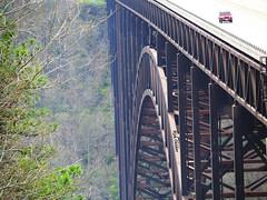 The Big Bridge (rcvernors) Tags: road bridge trees mountains highway automobile jeep steel wv westvirginia gorge newrivergorgebridge newriver earlyspring appalachianmountains rcvernors rt19 rickchilders thebigbridge