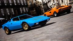 Lamborghini Countach LP400 & Lancia Stratos (nbdesignz) Tags: blue orange 6 hot sexy cars beauty car digital blu sony gran turismo lamborghini arancio countach lancia gt6 stratos polyphony bertone ps3 playstation3 azzuro lp400 gtplanet nbdesignz
