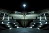 The Way Out (Tau Zero) Tags: night concrete illinois stairway urbana digitalmirror