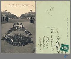 PARIS - Le Tombeau du Soldat Inconnu (bDom) Tags: paris 1900 oldpostcard cartepostale bdom