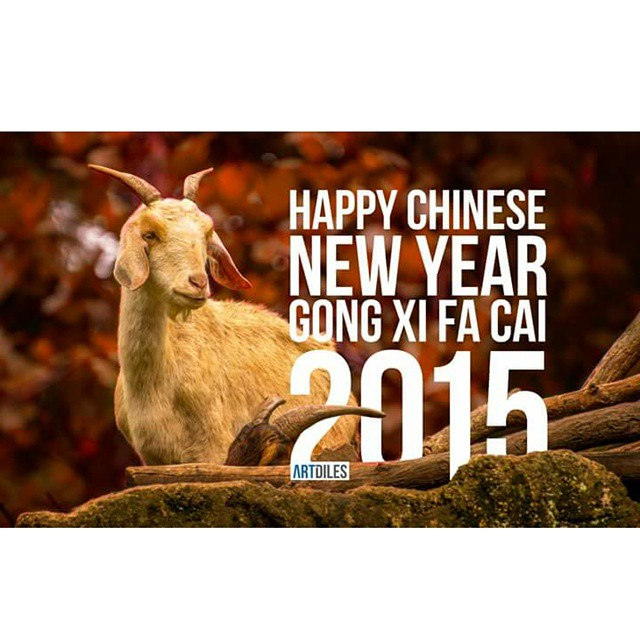 Happy Chinese New Year   #Gongxi #happynewyear #vsco #2015 #goat #love #amazing
