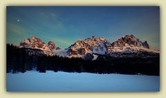 CADINI DI MISURINA - DOLOMITI  (sigma18 (Mauro)) Tags: italy moon mountain snow nature montagne landscape italia natura luna neve paesaggio belluno dolomiti ampezzo veneto cadore misurina lavaredo cadini