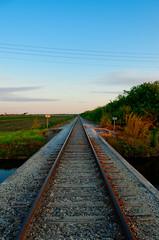 Northbound Railroad Near Krome