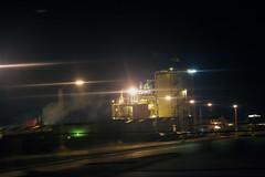 Light & Steel 2 (Jeff Enkler) Tags: road trip travel light night highway factory steel steam