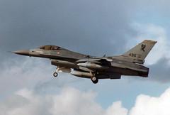 1985 General Dynamics F-16C Fighting Falcon 84-1296 - USAF 496th TFS - RAF Lakenheath 1989 (anorakin) Tags: 1989 usaf 1985 raf hahn lakenheath generaldynamics fightingfalcon f16c 841296 496thtfs