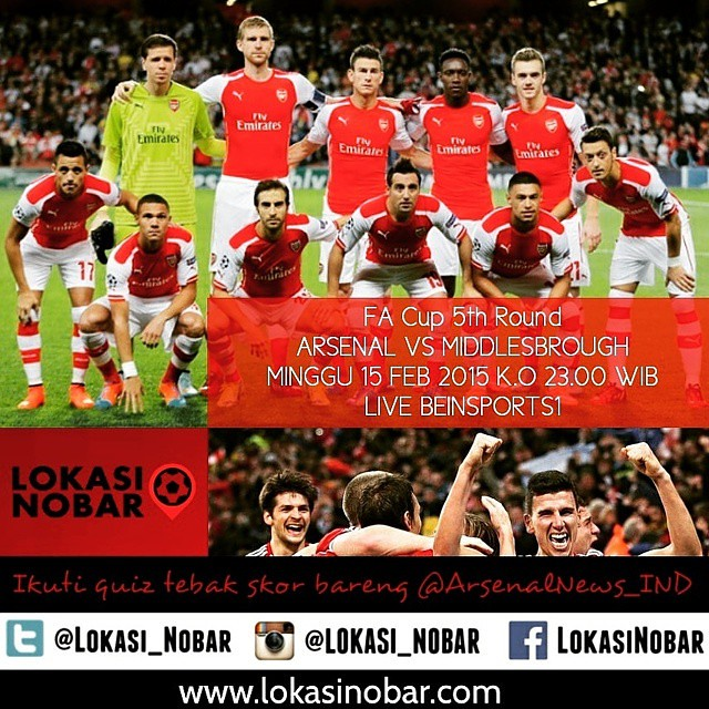 Lokasi Nobar: Quiz time #Arsenal vs #Boro cc @arsenalnews_ind