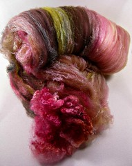 Rose Sable Citrine Wild Card Bling Batt (yarnwench) Tags: felting spinning batt yarnwench artbatt