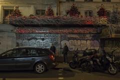 . (Le Cercle Rouge) Tags: paris france night reflections garedelest painters humans 75010 strasbourgsaintdenis grafftis
