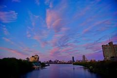 Sunset Over Boston ((Jessica)) Tags: bridge sunset boston skyline river newengland charles bu pw