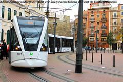 Algo de va mtrica... (Adrin Valencia Martnez) Tags: valencia via tranvia tramlink fallas metrica 4400 vossloh