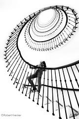 starway to... ;-) (PIXXELGAMES - Robert Krenker) Tags: vienna wien white black wall contrast high model key stair heaven upstairs fujifilm highkey monochrom blacknwhite schwarzweiss fujinon downstairs xt1 biancoenerom