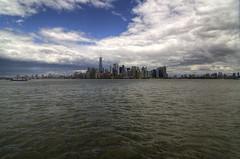 Lower Manhattan (Brandon Godfrey) Tags: nyc newyorkcity urban usa newyork water skyline brooklyn clouds buildings cityscape unitedstates unitedstatesofamerica financialdistrict eastriver hudsonriver lowermanhattan highrises oneworldtrade