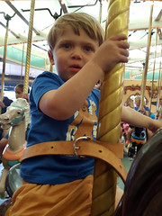 Carousel time! (quinn.anya) Tags: sam toddler carousel santacruz boardwalk