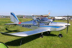 G-CEZF (GH@BHD) Tags: eurostar aircraft aviation microlight ev97 egad ulsterflyingclub newtownardsairfield evektoraerotechnik evektor teameurostar gcezf