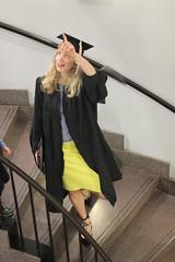 Anne on stairs (bobmendo) Tags: directions pointing chapelhill unc universityofnorthcarolina carolinablue macbusinessschool