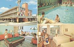 Fiesta Motel - Atlantic City, New Jersey (The Cardboard America Archives) Tags: pool vintage newjersey motel atlanticcity billiards roomview quadview