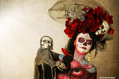 My dead lover (Red Cathedral was at Shankra) Tags: art halloween graffiti sony eerie bodypaint horror bodypainting alpha mardigras redcathedral gavere a850 eventcoverage sonyalpha gafodi aztektv bertverstappen bodypaintshootday