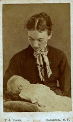 A Mother's Loss, Albumen Carte de Visite, Circa 1875 (lisby1) Tags: usa baby newyork loss death infant mourning 1800s victorian mother american cdv cartedevisite earlyphotography postmortem albumen canastota nineteethcentury