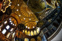 Hagia Sophia (Aleem Yousaf) Tags: turkey photo nikon walk istanbul fisheye 16mm sophia sultanahmet d800 hagia ayasofia