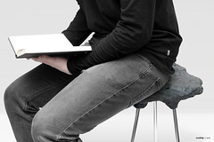 Stone Foam Stool in Use   2015 (Matthijs Kok) Tags: matthijs art nature rock stone chair soft inspired clay foam installation mold stool inspire poly liquid pigment mixture kok polyurethane urethane matthijskok stonefoam
