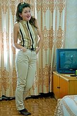 A Little Bit Sassy (stillphototheater) Tags: sexy russia sassy 1999 beautifulwoman novosibirsk coy prettygirl lovelylady xenya novosibirskrussia stillphototheater