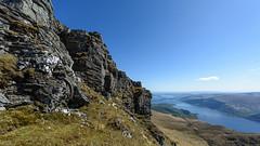 High rockface (GDDigitalArt) Tags: mountain nature sunshine rural scotland daylight outdoor hiking benlomond lochlomond