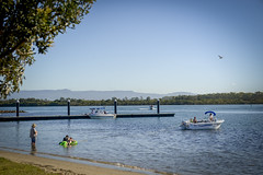 Tubing at Greenwell Point (Visit Shoalhaven) Tags: family holiday beautiful river point fun jetty edge views waters tubing escarpment shoalhaven greenwell