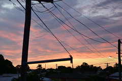Straight out of the camera {5} (Images by Jeff - from the sea) Tags: trees sky storm june clouds twilight nikon streetlight dusk bluesky powerlines goldensunset tamron pinksunset bundaberg redsunset 2016 2470mm d7200 tamronsp2470mmf28divcusd