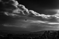 Balloons over Bath (Daz Smith) Tags: city uk portrait people urban blackandwhite bw streets blancoynegro monochrome clouds canon balloons landscape blackwhite bath skies candid citylife thecity streetphotography canon6d dazsmith
