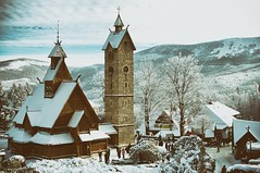 viking (Enhanced Reality) Tags: winter snow church landscape wooden europe december poland pologne 2014 karpacz