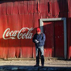 CocaCola Atacama (jfraile (OFF/ON slowly)) Tags: chile blue red muro azul wall pared rojo shadows cocacola sombras texturas calama sanpedrodeatacama antofagasta 2011 canonpowershots95